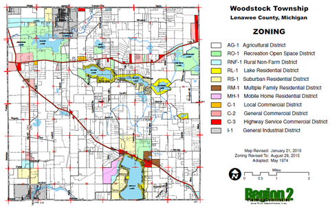 Addison Michigan Map.Woodstock Township Cemeteries